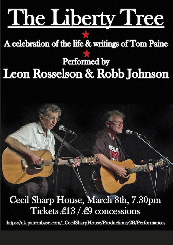 Liberty Tree flyer - Cecil Sharp House, March 8th